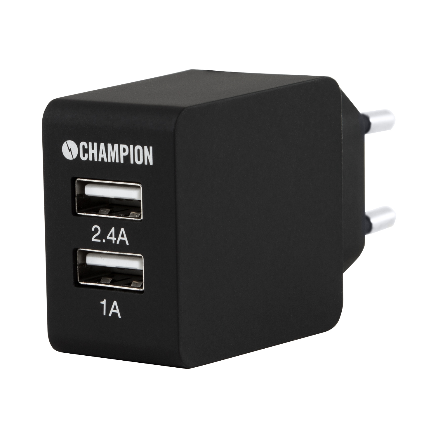 Champion Dual USB Laddare 230V 3.4A Sva